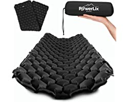 POWERLIX Sleeping Pad - Ultralight Inflatable Sleeping Mat, Ultimate for Camping, Backpacking, Hiking - Airpad, Inflating Bag