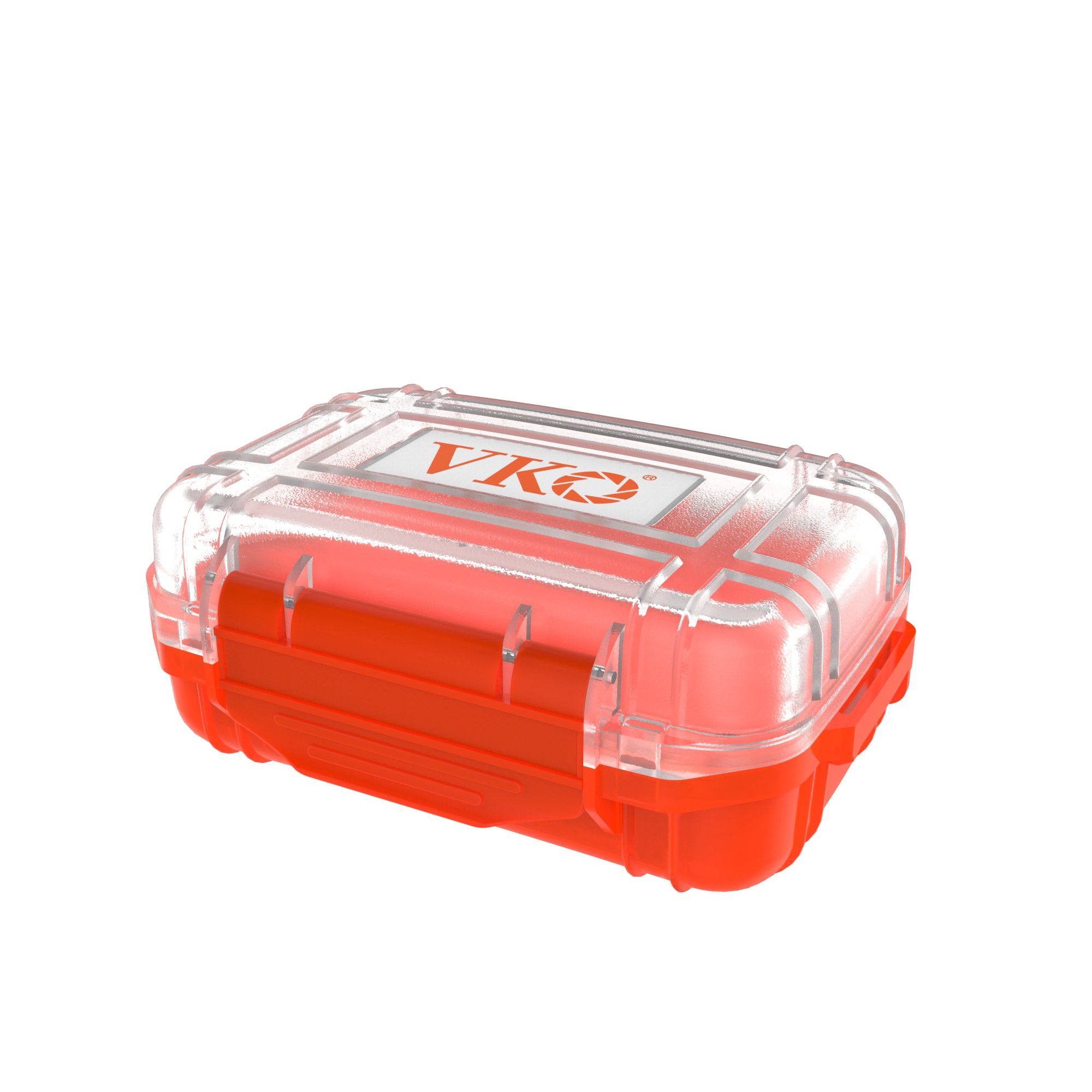 VKO 21 Slots SD Card Case,SD Card Holder,CF Card Case,CF Card Holder,Waterproof Shockproof Memory Card Case Holder Diving Dive Dry Box Container with Carabiner Hand Strap(Orange)
