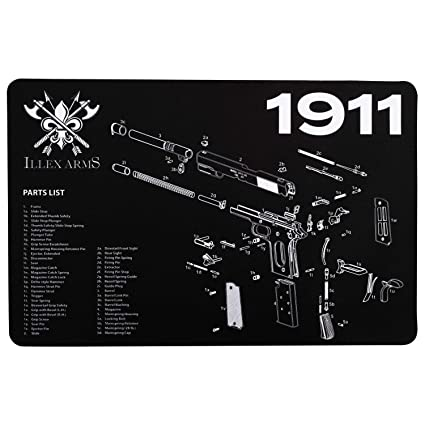 Illex Arms Gun Cleaning Mat for use with 1911 on