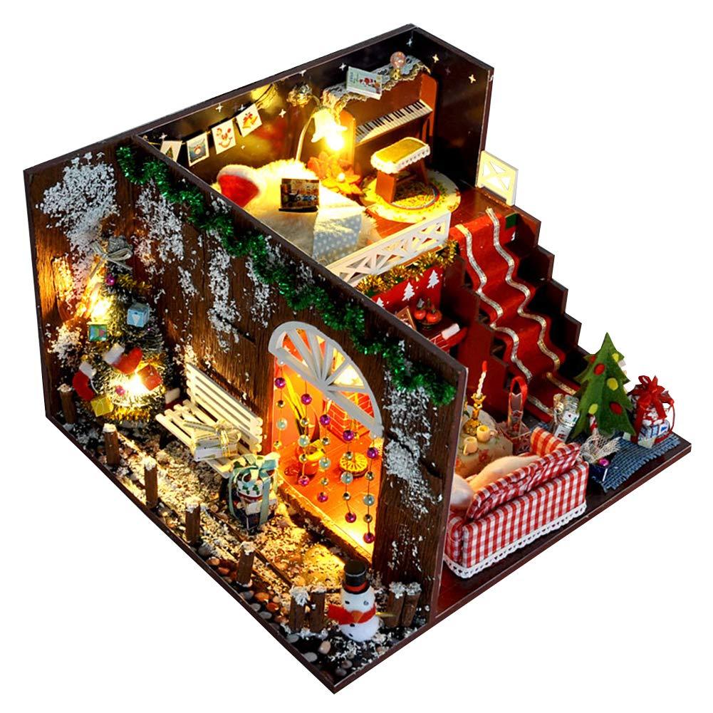 apresurado a ver NUAIPPP NUAIPPP NUAIPPP Kit Casa Miniature DIY Casa del Mar De Juguete De Manual Noche De Carnaval Navideño Modelo Hecho A Mano Juguetes para Niños Cumpleaños Creativo Día De San Valentín Regalos  70% de descuento