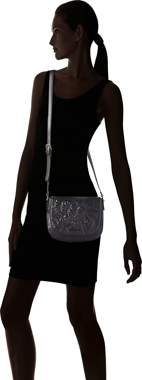 Desigual Womens Black Varsovia Lottie Saddle Bag