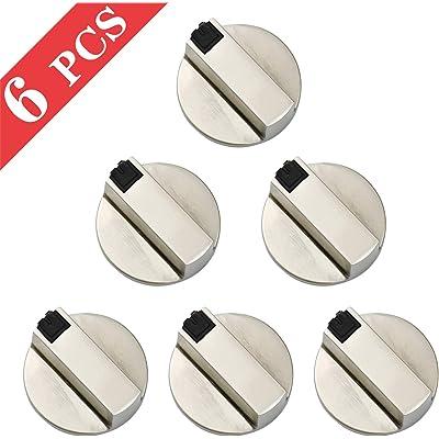 6mm Mandos Cocina Gas Botones Universal de Interruptor, 6 Piezas Metal Interruptor Giratorio Perillas de Control para Todas Las Marcas de Horno, Cocina y Placa de Cocina