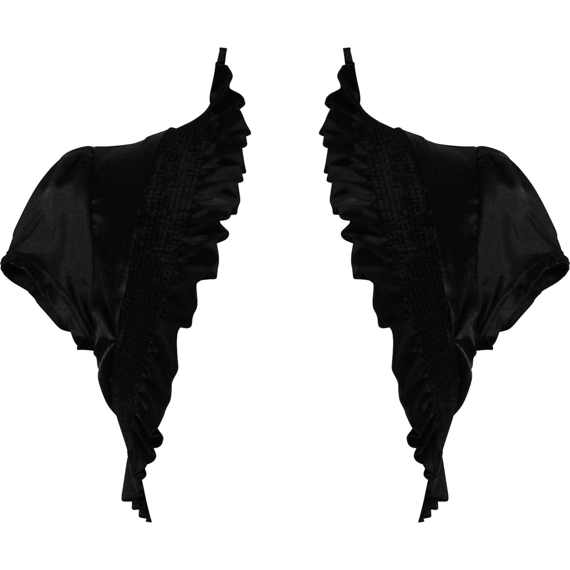 Stretch Satin Bolero Jacket Short Sleeve Cover-up, 2X, Black