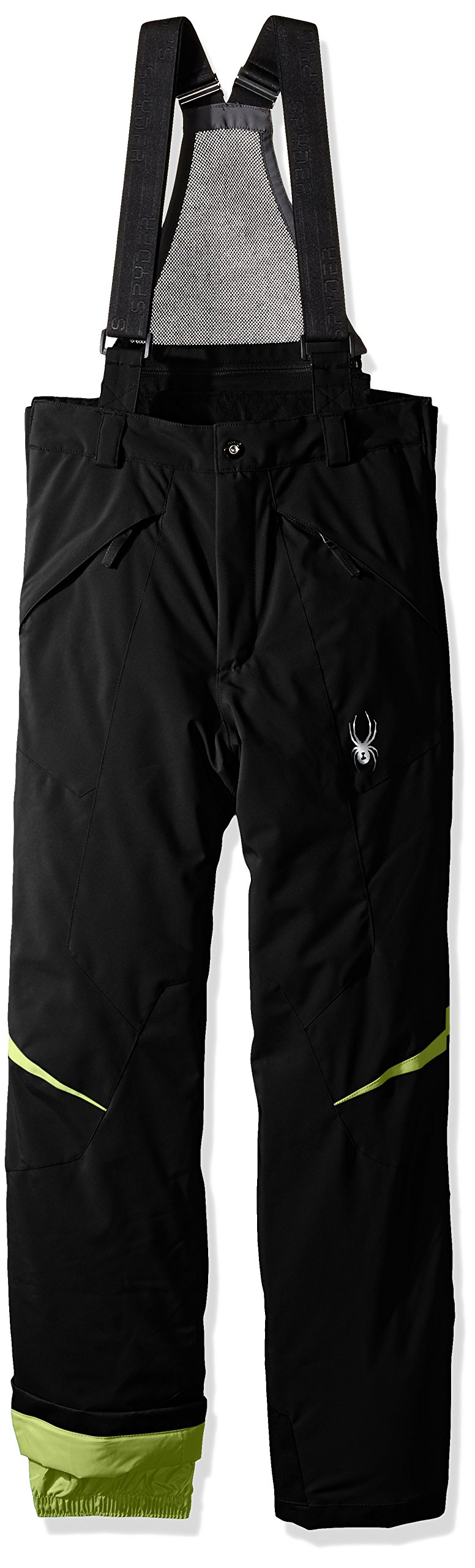 Spyder Boys Force Pants, Size 12, Black/Bryte Green