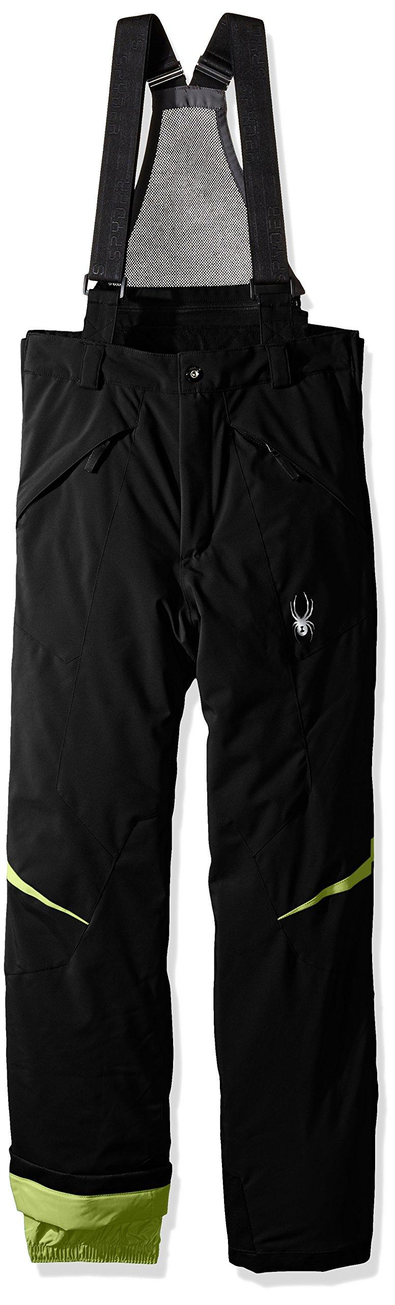 Spyder Boys Force Pants, Size 12, Black/Bryte Green