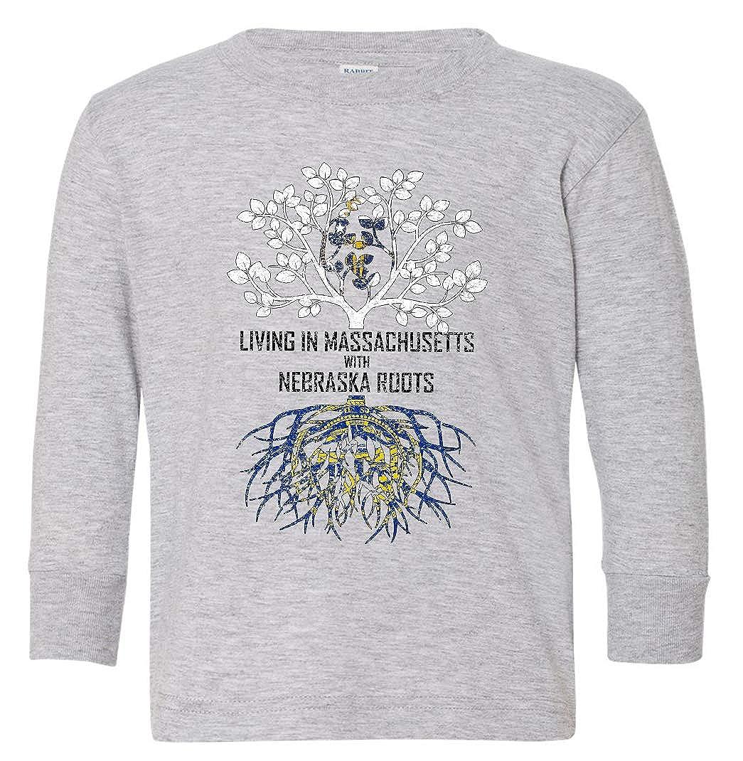 Tenacitee Babys Living in Massachusetts Nebraska Roots Shirt
