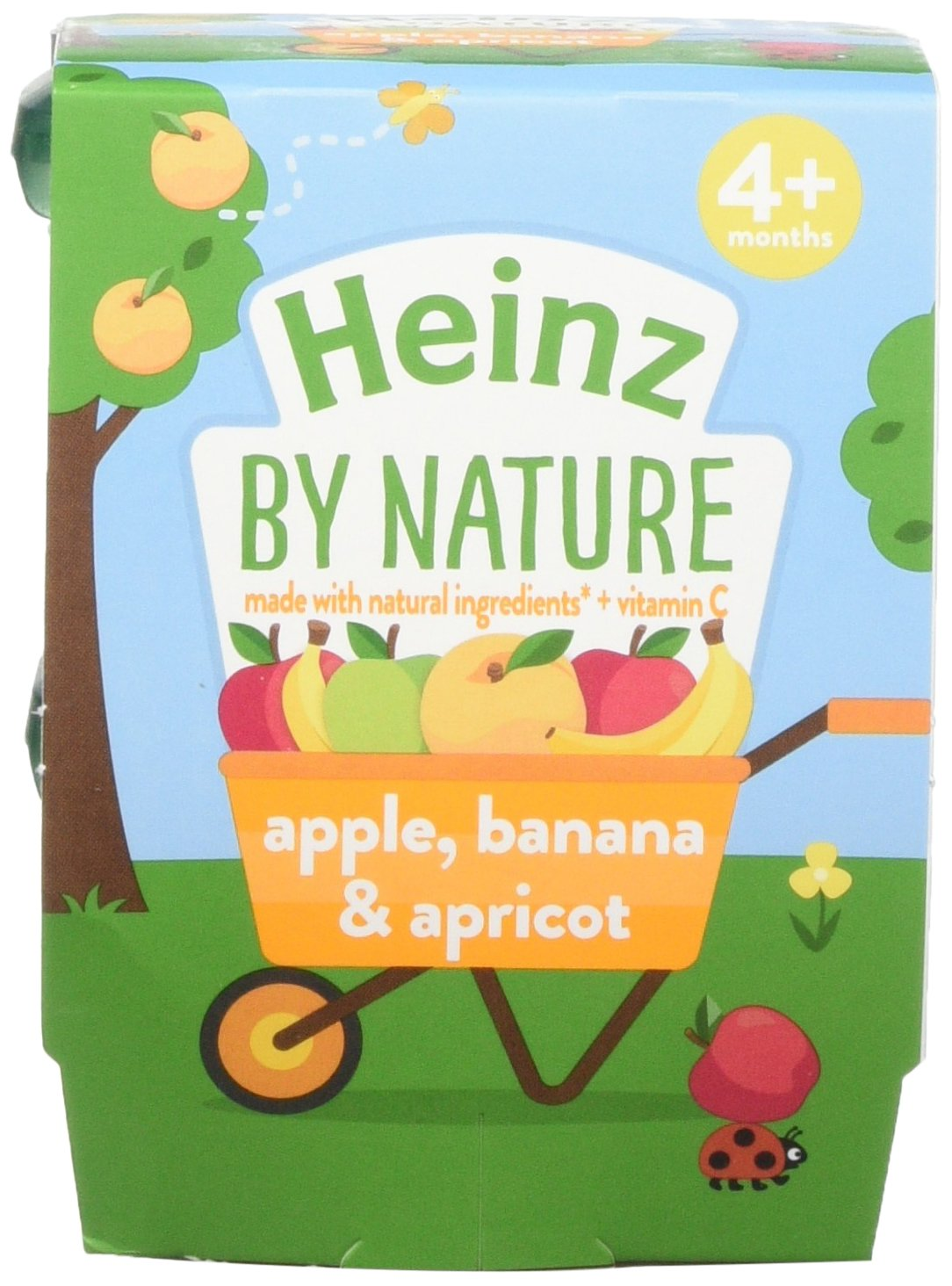 Heinz Apple Banana and Apricot Dessert Pots, 2 x 100 g (Pack of 6) The Kraft Heinz Company 76011472