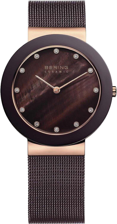 BERING Reloj Analógico para Mujer de Cuarzo con Correa en Acero Inoxidable 11435-262