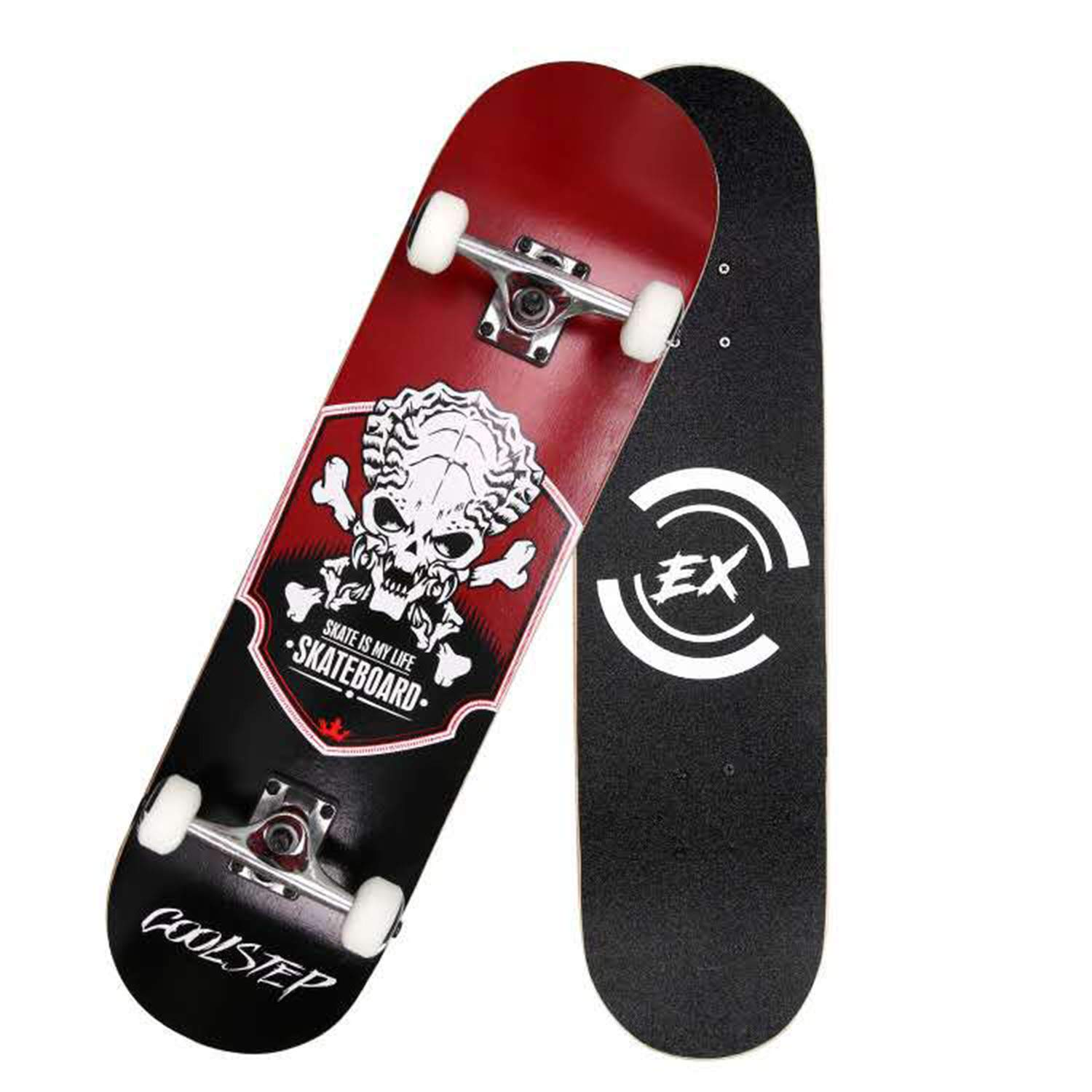 Pro Skateboard 31'' X 8'' Standard Skateboards Cruiser Complete Canadian Maple 8 Layers Double Kick Concave Skate Boards