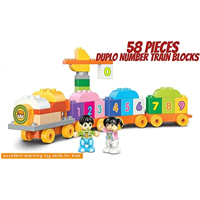 pizety My First Number Train Set Building Kit: Toys & Games