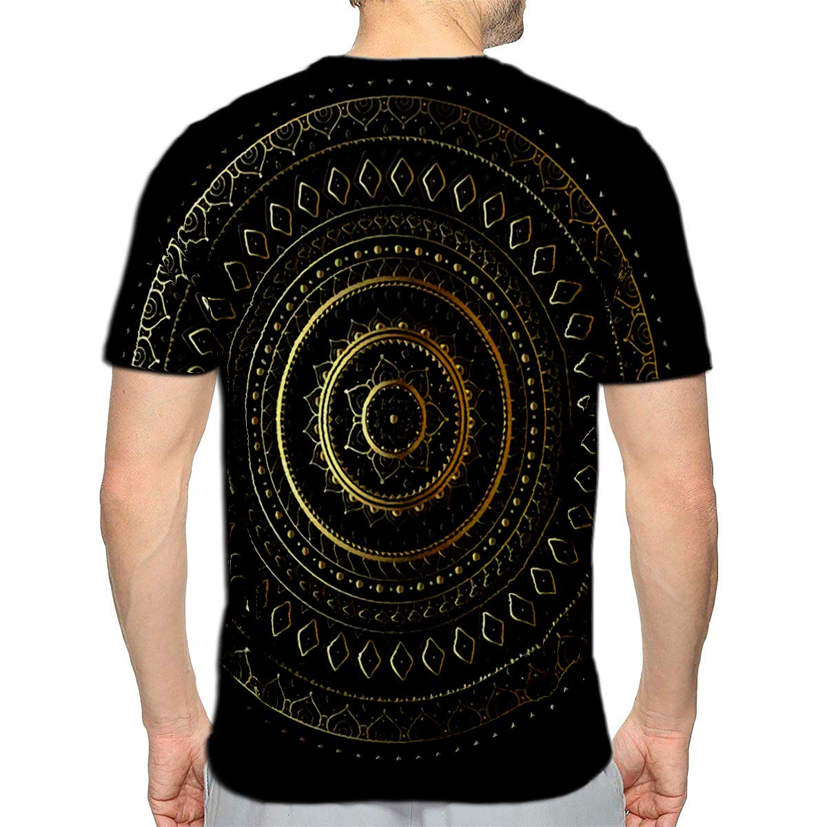 3D Printed T-Shirts Doodle Star Black Blue and Pink Abstract Short Sleeve Tops T