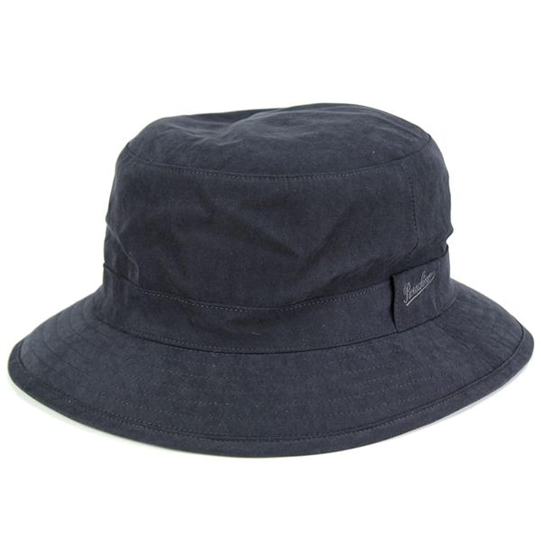 サファリハット/帽子 アウトドア/ゴアテックス ボルサリーノ/バケットハット GORE-TEX/シンプル タフ/ブラック B00UWCDO7W  M(56.5cm)