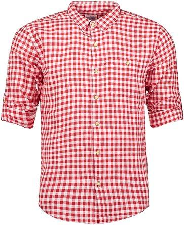 Haily ́s Men Camisa a cuadros rojo: Amazon.es: Ropa y accesorios