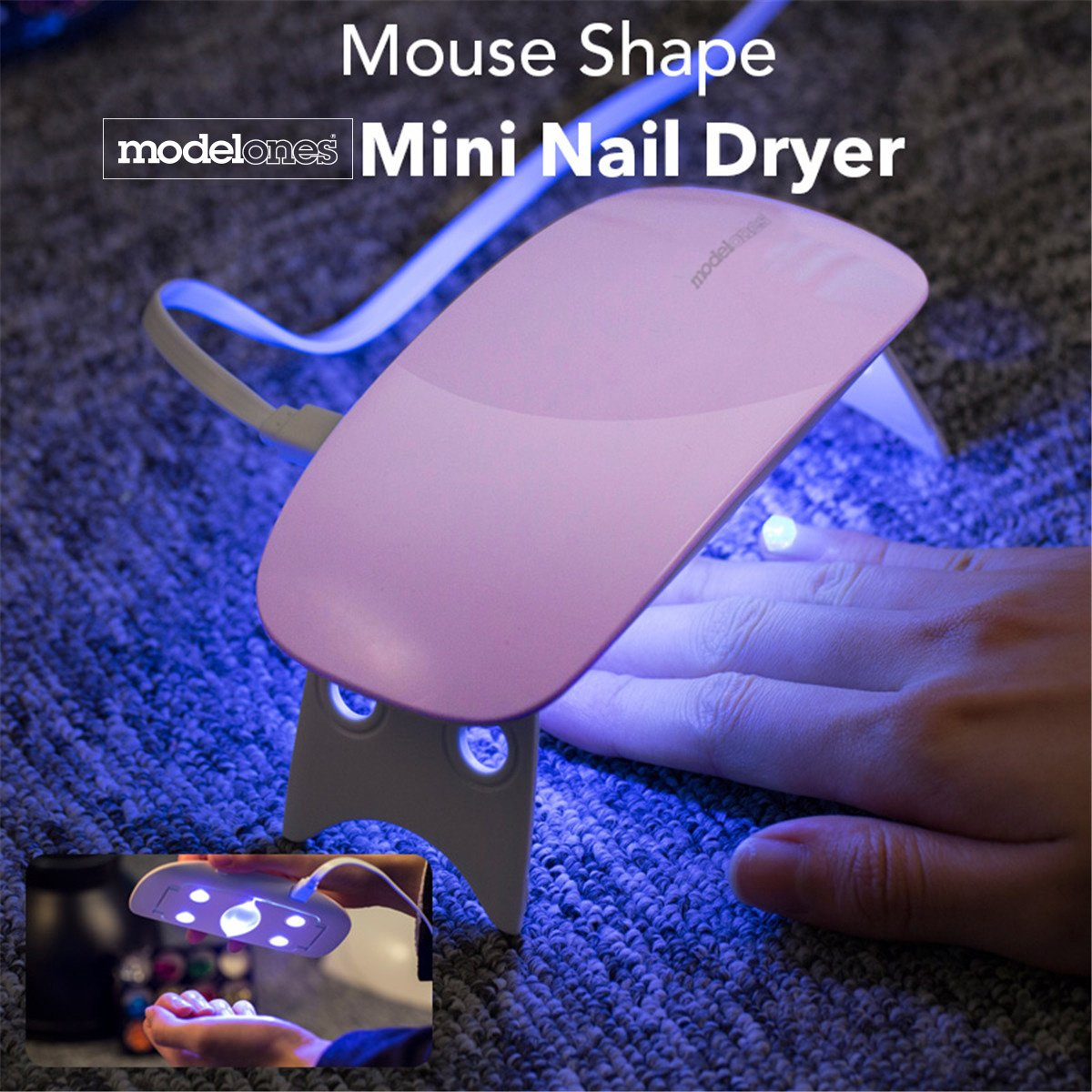 Modelones uv nagellack Starter Set Kit mit UV/LED lichthärtungsgerät ...