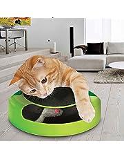 Juguete Tech Traders ® para gato que consisten en atrapar el ratón de peluche en movimiento, ideal para arañar