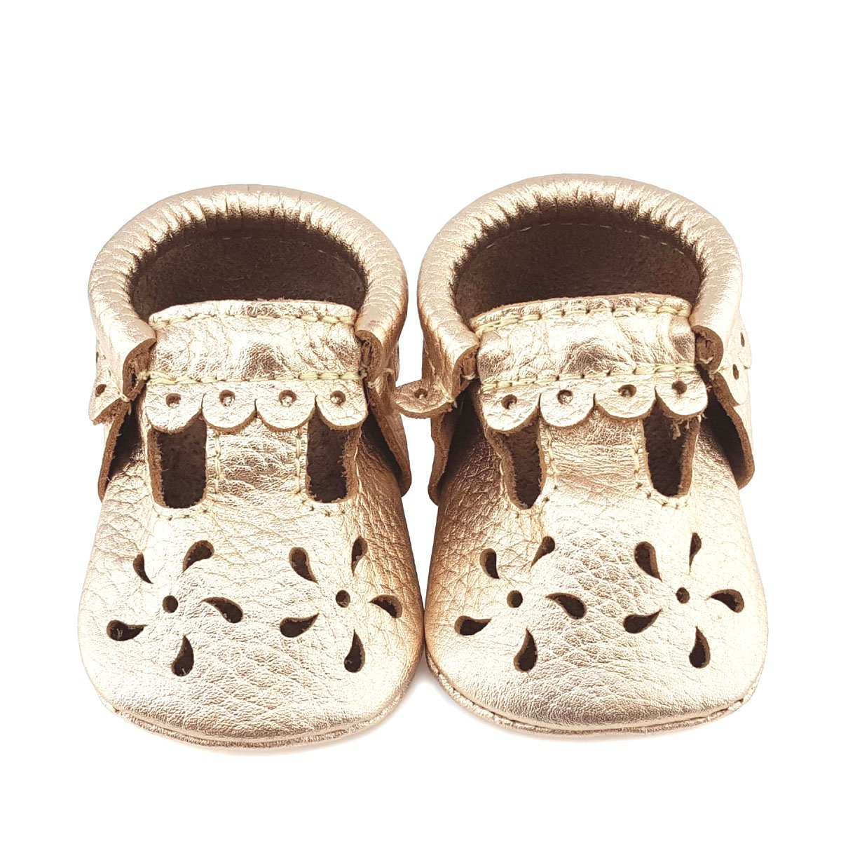 First Steps Sweet Mary Jane Leather Bootie Tan 2 M US INFANT