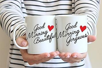 Guten Morgen Schön Und Guten Morgen Schöne Paar Tassen, Valentinstag  Geschenke Für SIE/IHN