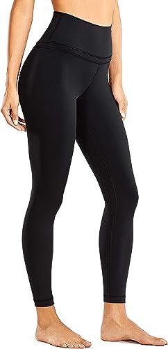 CRZ YOGA Women's Naked Feeling Workout Leggings 25 Inches - 7/8 High Waist Yoga Tight Pants
