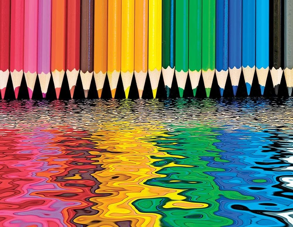 Springbok's 500 Piece Jigsaw Puzzle Pencil Pushers, Multi