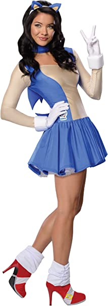 Amazon Com Sonic The Hedgehog Adult Costume Sonic Blue X Small Toys Games