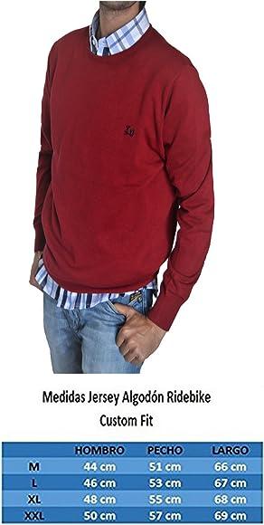 Color Burdeos Ridebike Jersey de Cuello Redondo Vespa 100/% algod/ón Custom fit 152