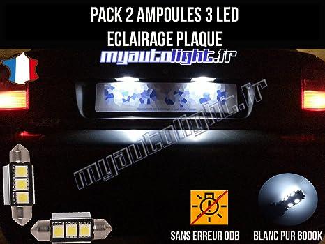 MyAutoLight - Pack de bombillas LED para placa de matrícula de Audi A3 8L