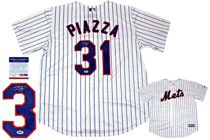 1a10a009b7a Mike Piazza Autographed Signed New York Mets Majestic Cool Base Jersey -  PSA DNA Authentic