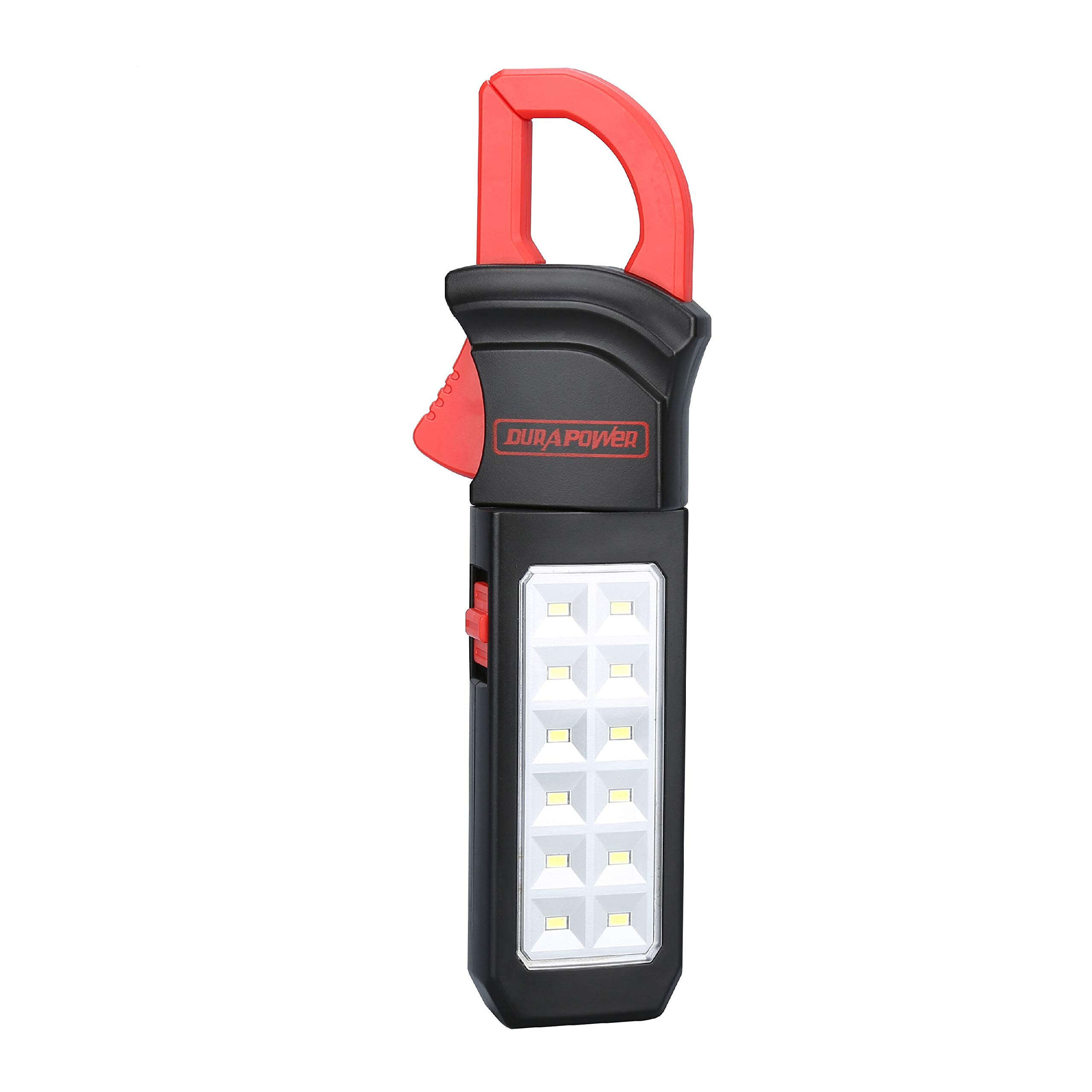 Durapower 300 Lumen LED Work Light 360 Degree Rotating Clip Include 3 AA Batteries Powerful Magnetic Back