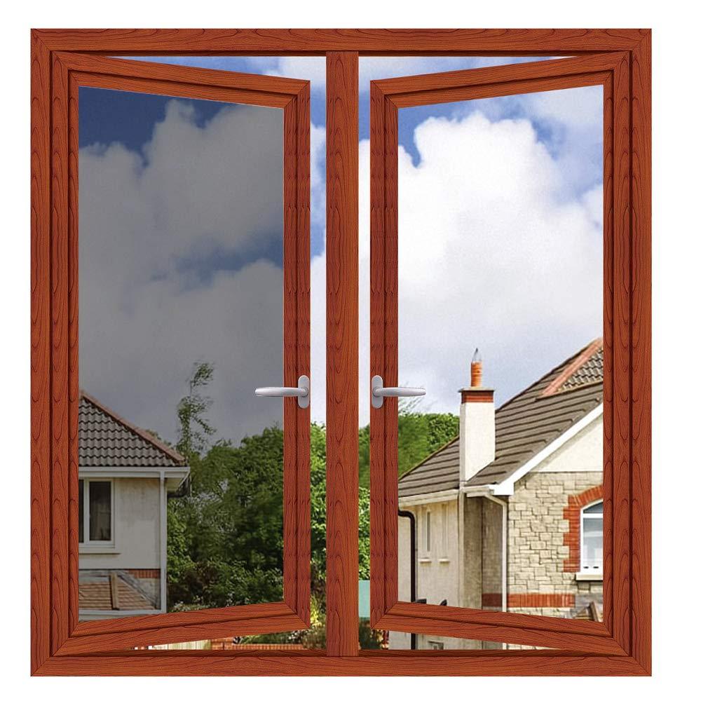One Way Window Film Window Tint Daytime Pirivacy Mirror Glass Screen Stickers Self-Adhesive Sun Blocking Heat Control Anti Uv DIY for Home Office Silver 35.4 Inch x 13.1 Feet by WPCTEV