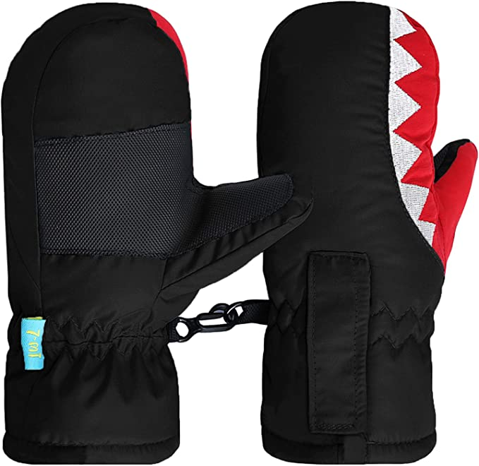 7-Mi Snow Gloves for Kids Waterproof Warm Winter Snow Mitten for Skiing /& Snowboarding