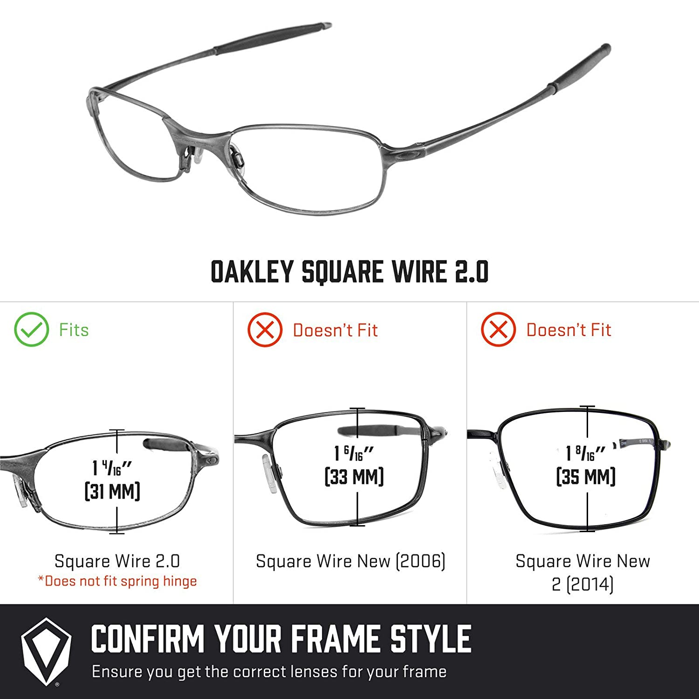 Revant Lentes polarizados para Oakley Square Wire 2.0 (Azul Hielo)  MirrorShield®  Amazon.es  Ropa y accesorios cf5e7da03d