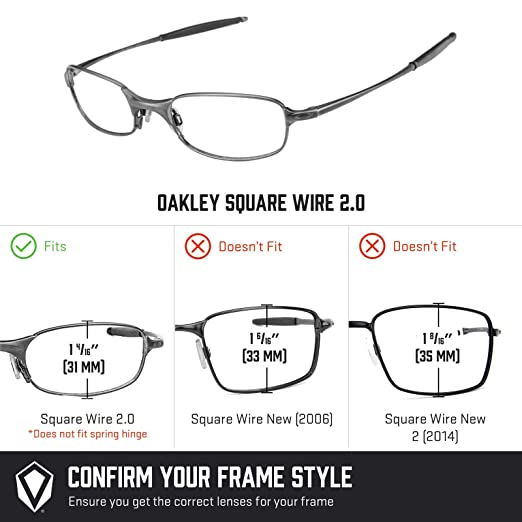 33b21da1c4 Revant Replacement Lenses for Oakley Square Wire 2.0 6 Pair Combo Pack  K029  Amazon.co.uk  Clothing