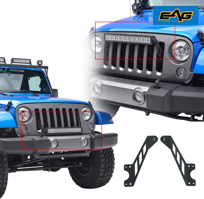 "52/"" 300W LED Light Bar//W 4/"" 18W+Upper Lower Mount Bracket Jeep JK Wrangler07-19"