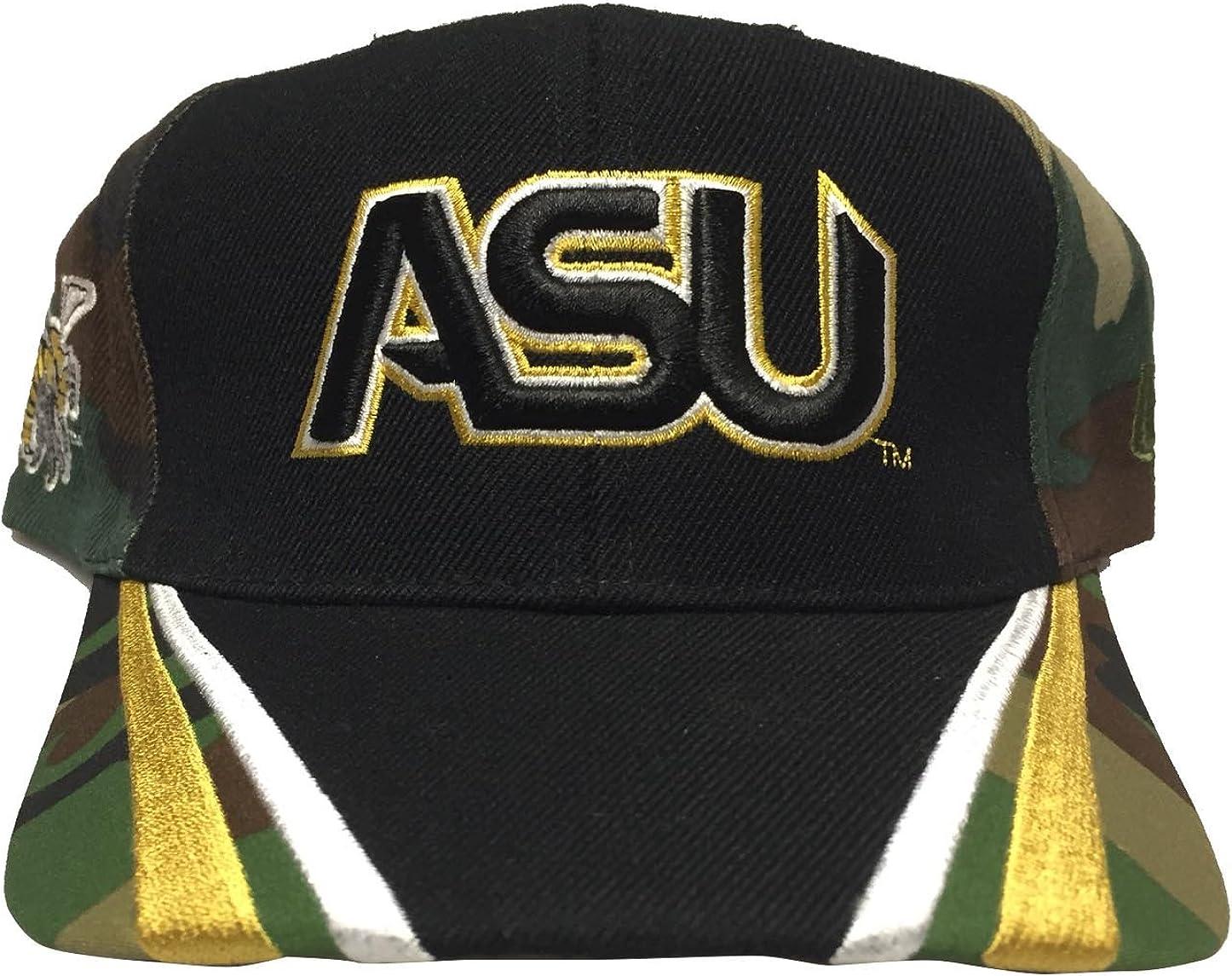 Big Boy Gear Alabama State University Camo//Bk Hat Cap HBCU Historically Black University Adjustable College Baseball Hat Dad Cap
