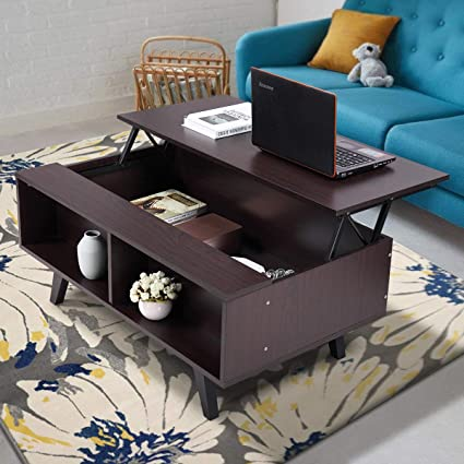 Amazoncom Coffee Table Lift Top Whidden Compartment