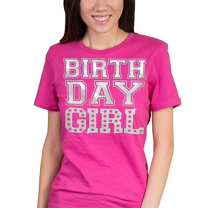 Amazon.com: rhinestonesash cumpleaños de niña – playera ...