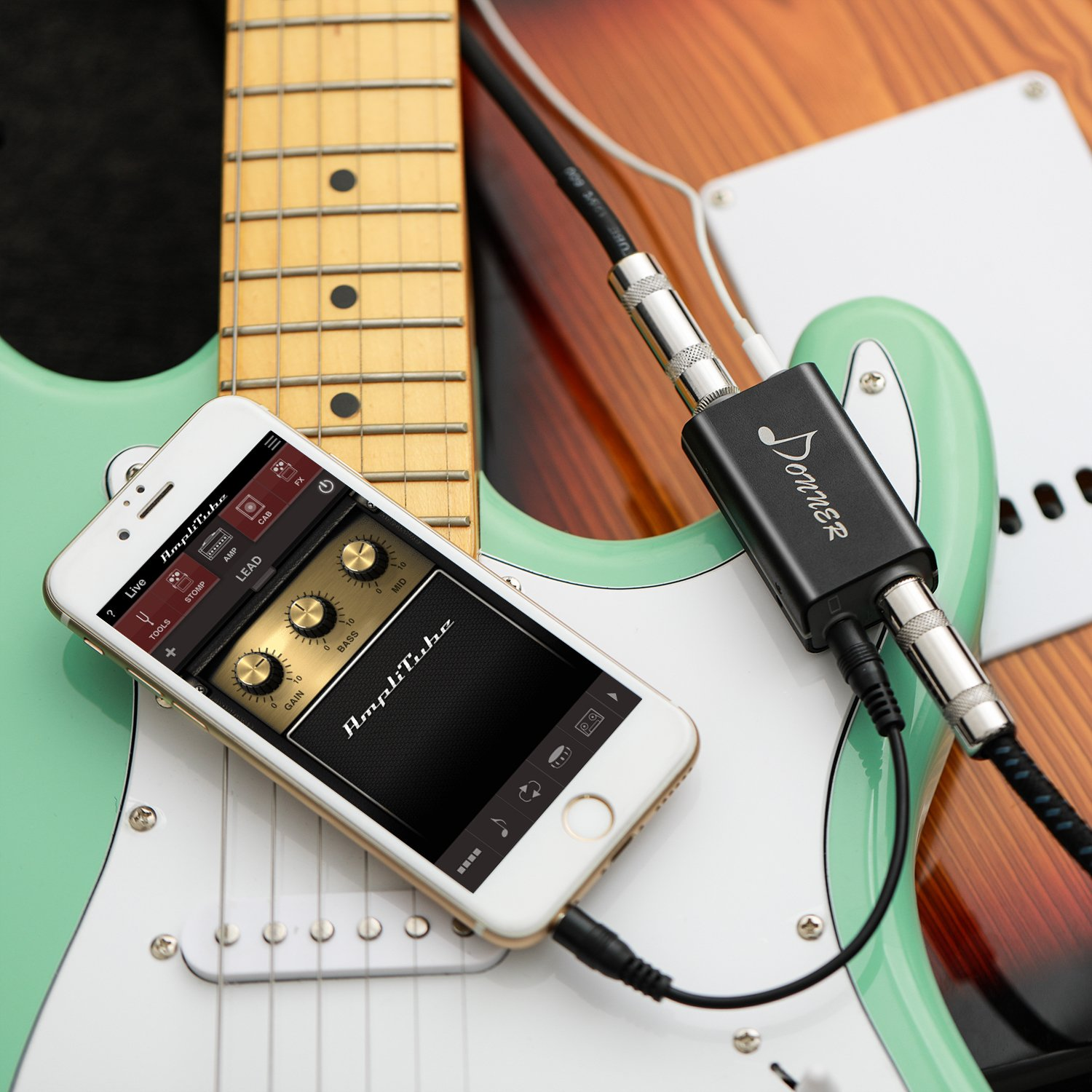 Donner DIA-1 Interfaz de Guitarra/Bajo para iphone/Ipad//Mac/IPod Touch/Android: Amazon.es: Instrumentos musicales