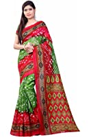 ShopSmarty Sarees For Women Latest Design Party Wear Multi Color Bhagalpuri Silk Sarees New Collection Party Wear Saree With Blouse Piece