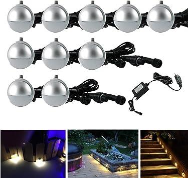 10pcs Focos led Empotrables en Techo Iluminación de seguridad LED Escalera, Paso, Patio, Pared Luces de jardin exterior ,Blanco caliente (10 Unidades, Blanco caliente): Amazon.es: Bricolaje y herramientas