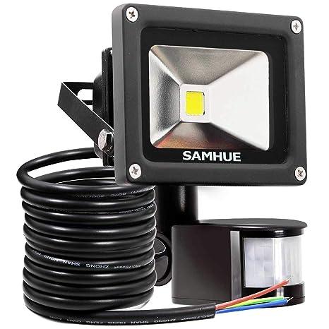 Luz del sensor de movimiento de 10W, Luces de inundación samhue superbrillantes LED, alto