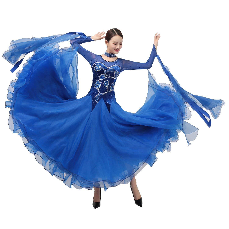 買取り実績  garuda レディース社交ダンス衣装 ワルツ高級ダンスドレス 競技発表会 競技発表会 サイズオーダー garuda B07PGGQKB9 B07PGGQKB9 ブルー,サイズオーダー, BLUME:e51e2237 --- a0267596.xsph.ru