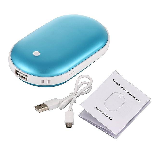 Bestech 5200Mah portable Batterie Externe USB Pocket chauffe-main électrique réchauffeur rechargeable (Bleu)
