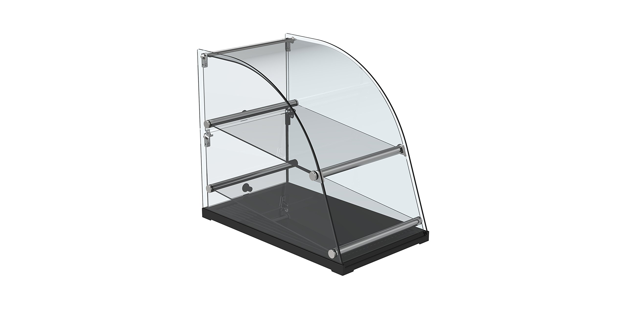 EQ Kitchen Line Commercial Countertop Display tempered Glass Round top
