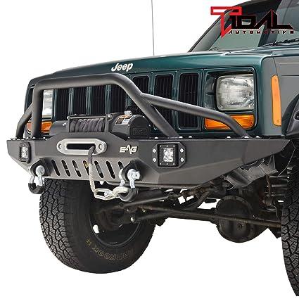 Jeep Cherokee Xj >> Amazon Com 84 01 Jeep Cherokee Xj Off Road Front Bumper With Led
