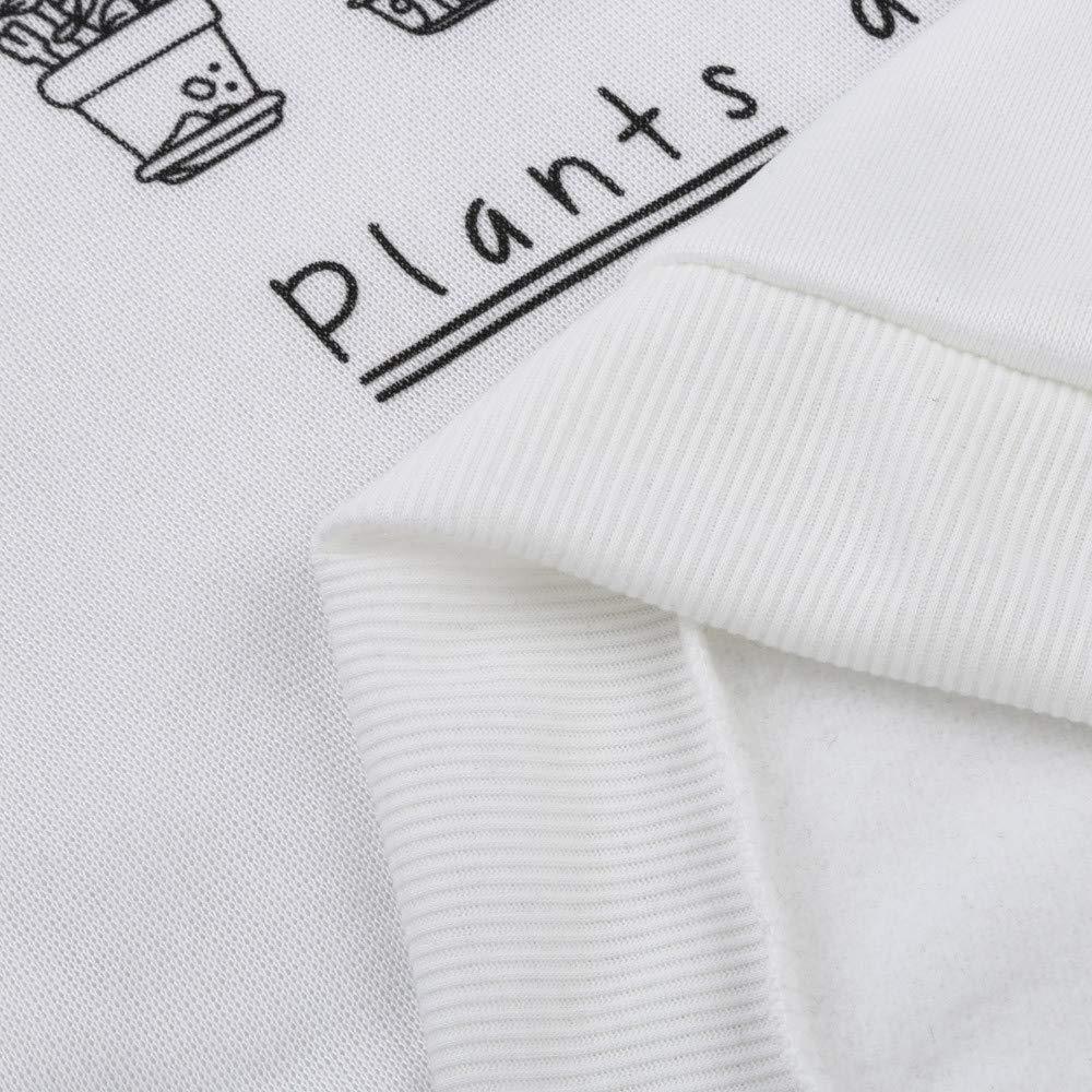 MEIbax Women Camisa de Manga Larga Blusa de impresión Sudadera suéteres Tops: Amazon.es: Ropa y accesorios