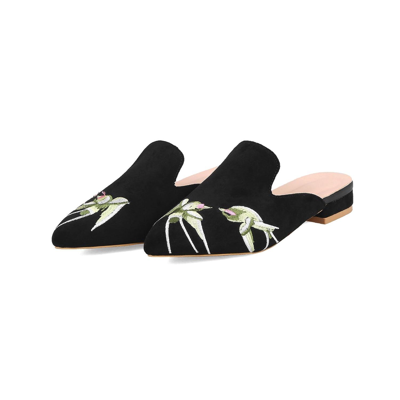 Sandales pour Femmes Bas, à Talons Bas, Femmes Pantoufles Noir Noir aa61732 - boatplans.space
