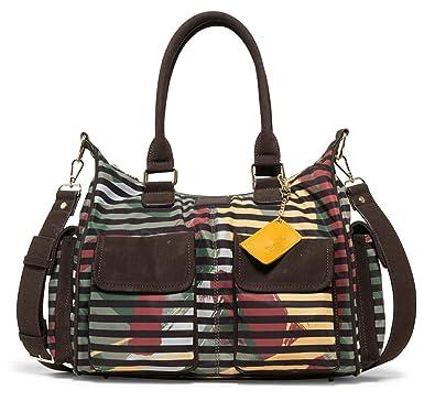 7acb76c6df55e Desigual Damen Handtasche Tasche Henkeltasche SONIA LONDON Braun  18WAXF04-4109