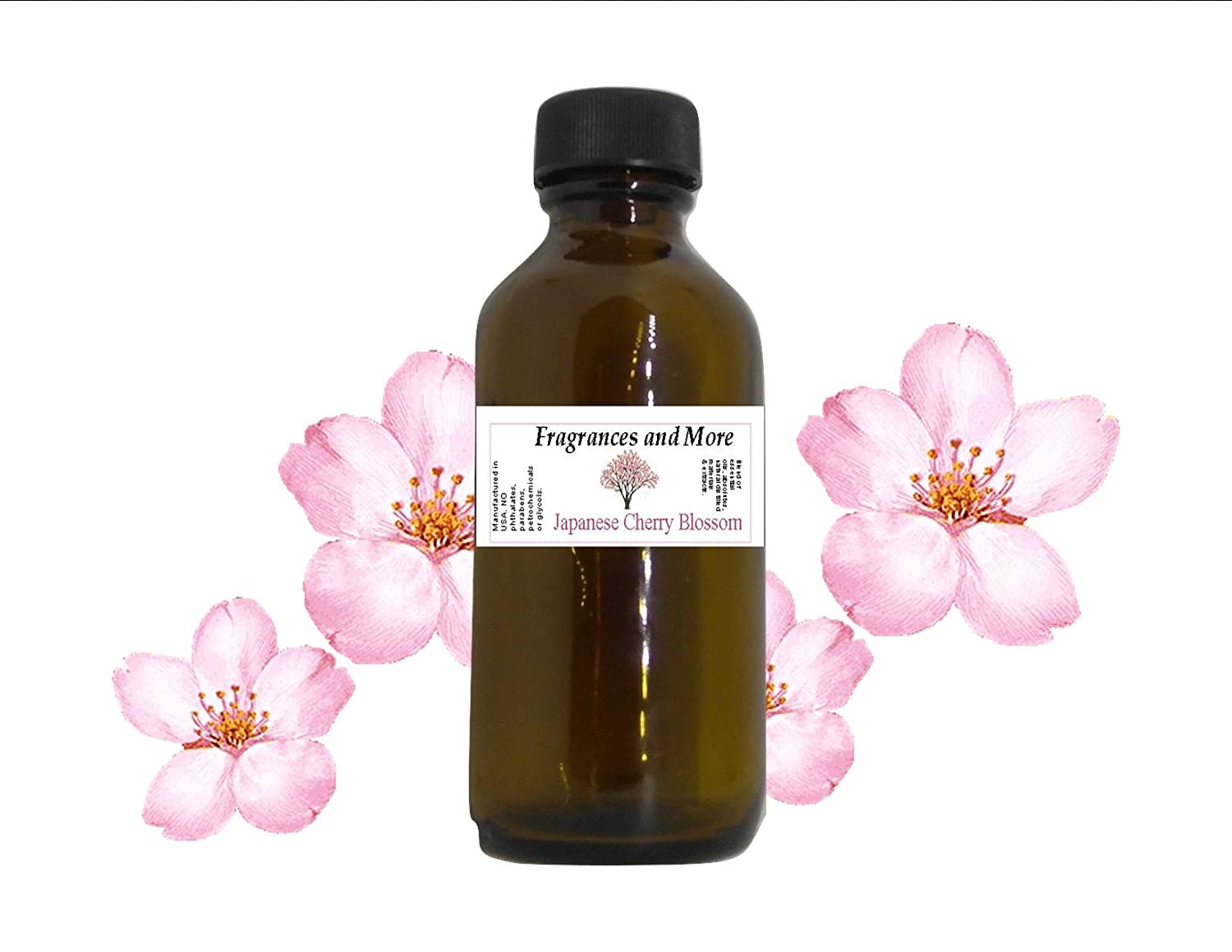JAPANESE CHERRY BLOSSOM FRAGRANCE OIL | For Soap Making| Candle Making| For Use with Diffusers| Add to Bath & Body Products| Home and Office Scents| 2 oz amber glass bottle