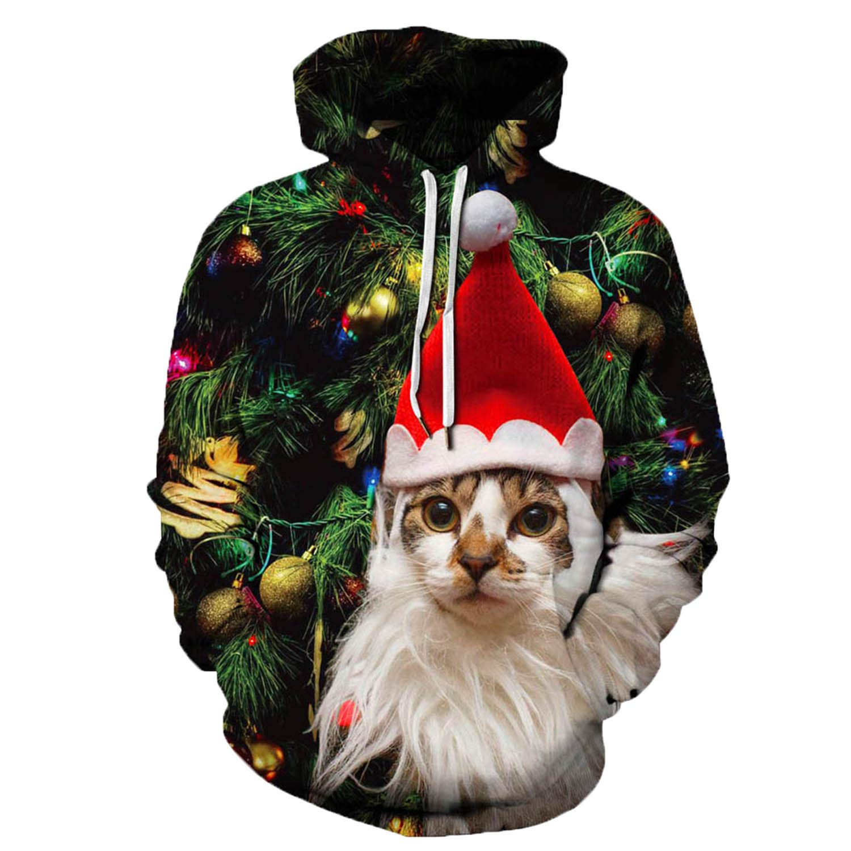URVIP Unisex Christmas Theme 3D Printed Pullover Fashion Hoodies Sweatshirts QYDM-391 L/XL by URVIP