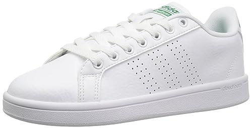 promo code 7163f b087b Adidas Cloudfoam Advantage Clean - Zapatillas para Hombre, BlancoVerde, 11  M US